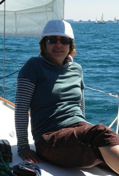 Adri enjoying a sail on Lake Michigan
