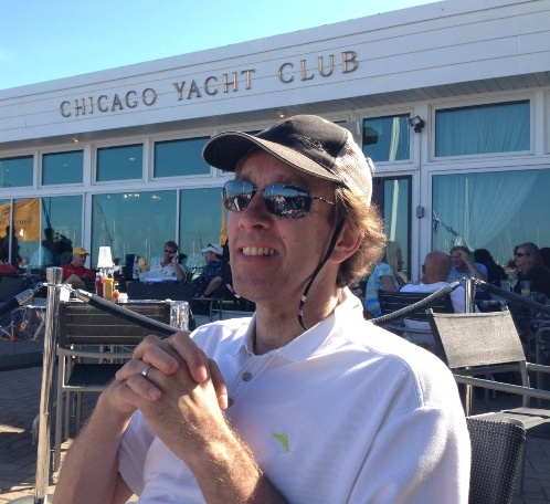 Ken on Mac race day at Chicago Yacht Club